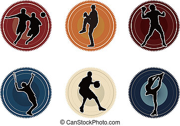 SPORT ICON - sport basketball soccer baseball tennis icon...