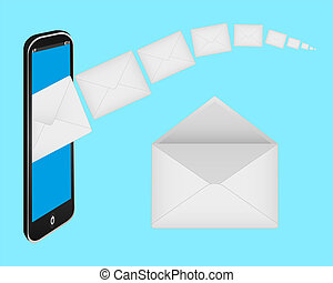 envelopes and a mobile phone