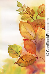Watercolor branch