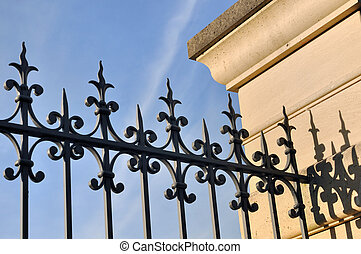 metal fence  - black wrought iron fence