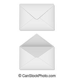 Two white envelope