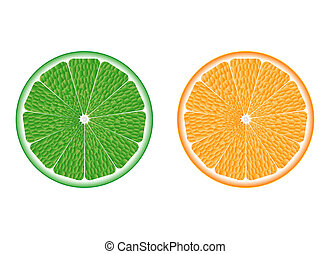 lime and orange