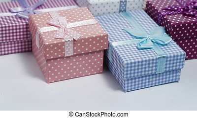 present boxes rotating - multi color present boxes rotating...