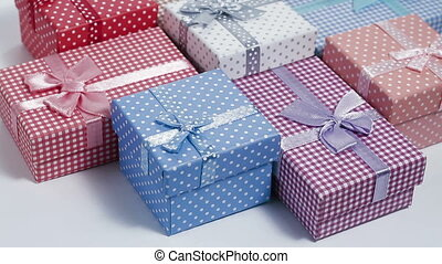 present boxes slow rotating - multi color present boxes slow...