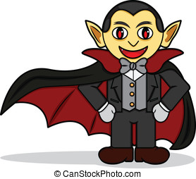 Dracula - A cartoon illustration of a Dracula