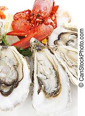 Świeży, produkty morza