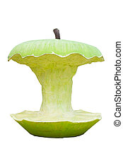 Green apple - Isolated Big Green Apple Core (made with...