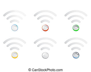 Wifi Symbol - Illustration - This illustration is AI10 EPS...