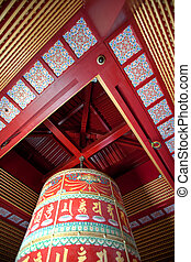 Prayer Wheel - A very large buddhist prayer wheel