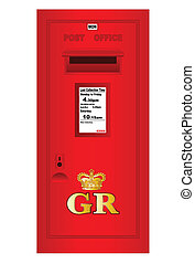 Traditional British Georges Reign Postbox - Tradition...