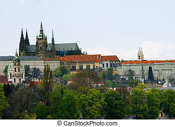 Prage Castle - View from Prgaue city center: Prague Castle...