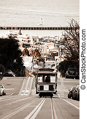 San Francisco Cable Car - A San Francisco cable car...