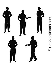 males in silhouette posing - vintage males in silhouette