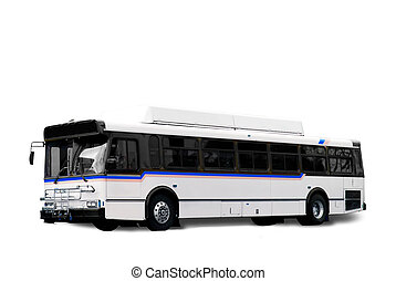 City Bus - A isolated white city bus with clipping path