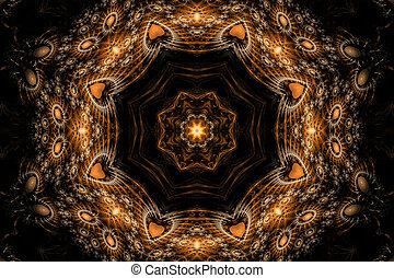 luminoso,  Mandala, estrela