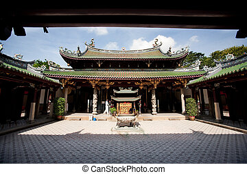 Buddhist Temple - A buddhist temple courtyard, asian...