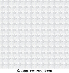 Crumpled paper with geometric seamless pattern. Vector