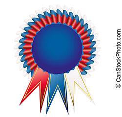 Prize-winning satiny medal