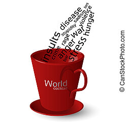 Red cup - bad world cocktail - Red cup full of bad words...