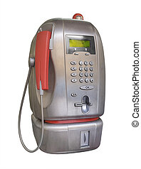 Public pay telephone, isolated