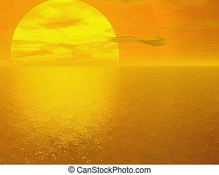 Background with sunrise