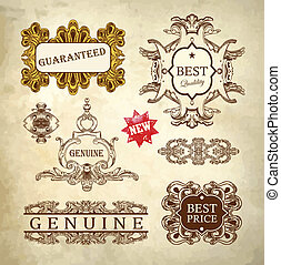 ornate royal luxury premium quality and guarantee label...