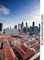 Chinatown Singapore - A view over Chinatown Singapore...