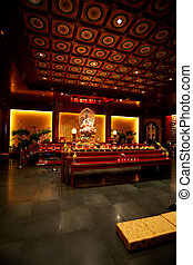 Buddhist Temple Interior - An interior of a buddhist temple...