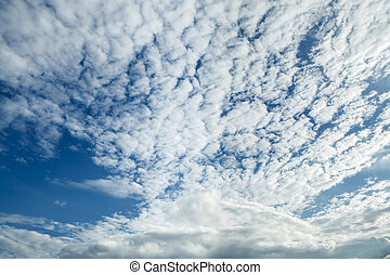 Blue sky with cloudy