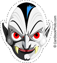 Dracula vampire mask - Cut out and keep vampire mask, enjoy