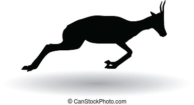antelope - silhouette of antelope vector illustration