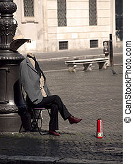 Mime on the street Rome