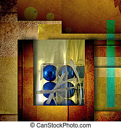 Christmas greeting blue balls card - Christmas greeting card...