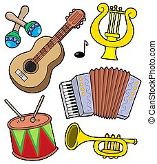 Music instruments collection 1 - isolated illustration