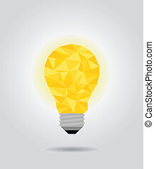 yellow idea bulb