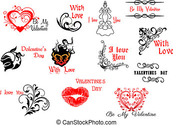 Valentines Day headers and scripts for holiday design