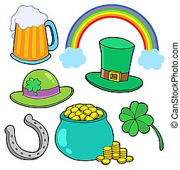St Patricks day collection - isolated illustration.