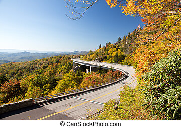 Linn Cove Viaduct - An autumn view of the Linn Cove Viaduct...