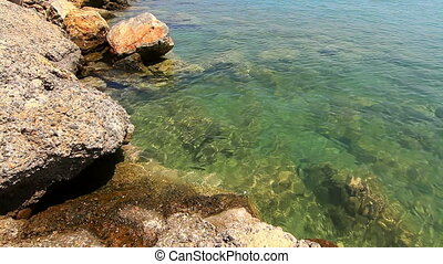 Clear water of the sea near the shore