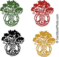 World/Life tree - symbolic tree in a choice of colors,...