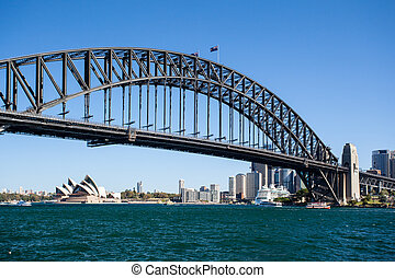 Sydney Harbour Bridge on a Clear Day - The view from...