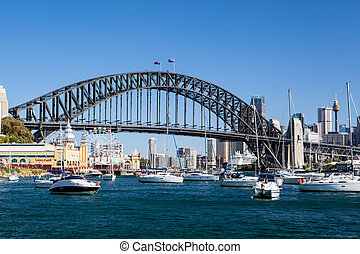Sydney Harbour Bridge and City - The view from McMahons...