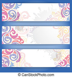 Set Of Colorful Banners.