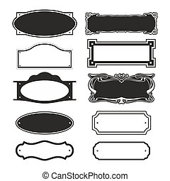 nameplate0105a - abstract illustration of different doorbell...