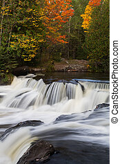 Michigans Upper Bond Falls in Autumn
