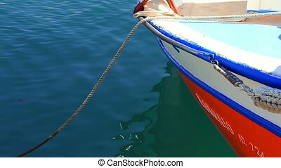 The boats of fishermen in the port