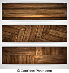 Wooden texture banner Vector illustration Eps 10