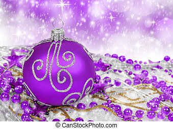 christmas decoration - purple christmas decoration