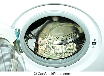 money white-washing business concepts