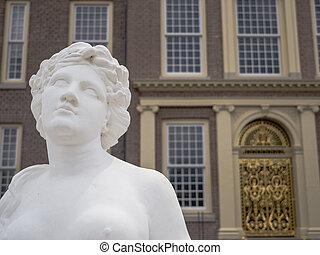 Mythological god - Statue of a mythological goddess at royal...